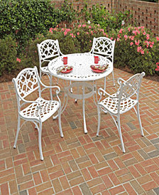 "Home Styles Biscayne 5PC Dining Set 48"" Round Table with Four Arm Chairs"