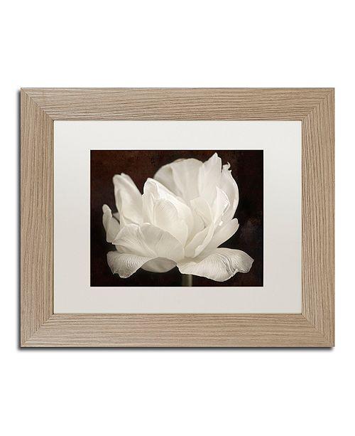 """Trademark Global Cora Niele 'White Tulip III' Matted Framed Art, 11"""" x 14"""""""