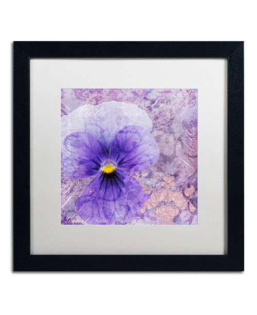 "Trademark Global Cora Niele 'Viola - Secret Love' Matted Framed Art, 16"" x 16"""