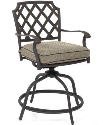 Grove Hill Cast Aluminum Outdoor Balcony Swivel Chair
