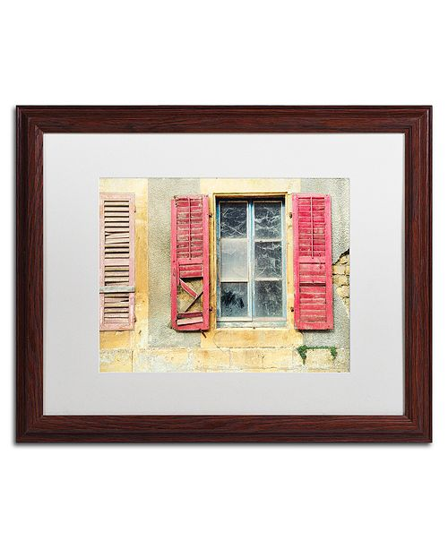 "Trademark Global Cora Niele 'Red Shutters' Matted Framed Art, 16"" x 20"""