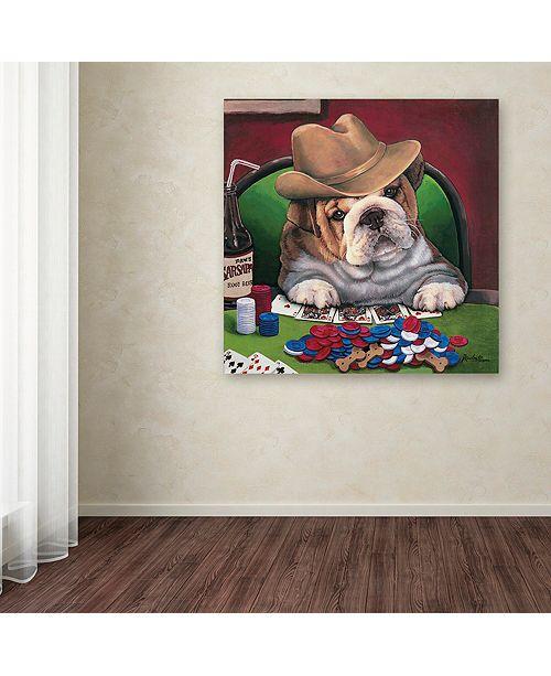 """Trademark Global Jenny Newland 'Beginner's Luck' Canvas Art, 24"""" x 24"""""""