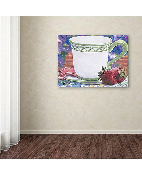 """Trademark Global Jenny Newland 'Tea Party Bear 2' Canvas Art, 35"""" x 47"""""""