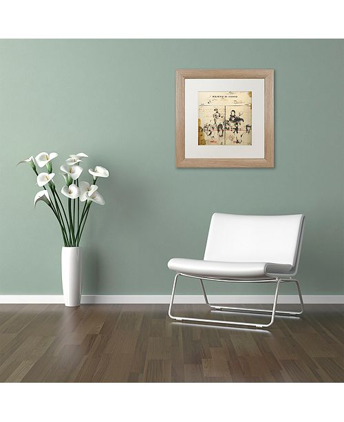 "Trademark Global Nick Bantock 'Italian Invoice' Matted Framed Art, 16"" x 16"""