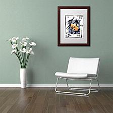 Nick Bantock 'Pelicos Stamp' Matted Framed Art