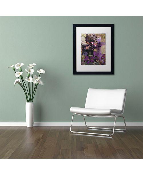 "Trademark Global Nick Bantock 'Purple Botanical' Matted Framed Art, 16"" x 20"""
