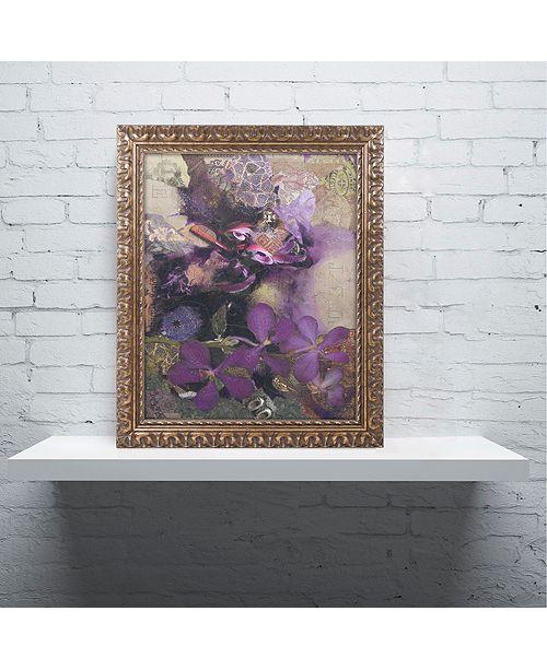 "Trademark Global Nick Bantock 'Purple Botanical' Ornate Framed Art, 11"" x 14"""
