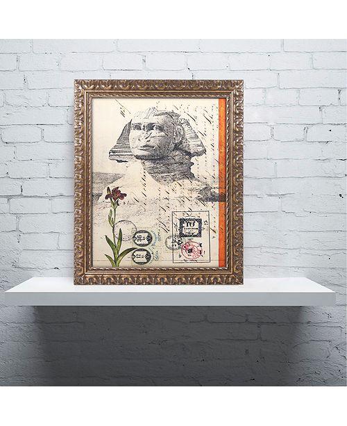 """Trademark Global Nick Bantock 'Sphinx' Ornate Framed Art, 11"""" x 14"""""""