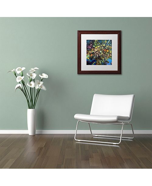 "Trademark Global Nick Bantock 'Tree of Life' Matted Framed Art, 16"" x 16"""