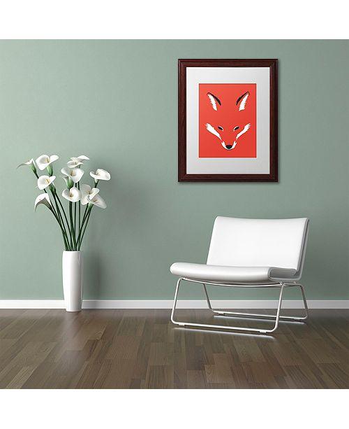 """Trademark Global Robert Farkas 'Foxy Shape' Matted Framed Art, 11"""" x 14"""""""