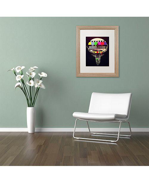 """Trademark Global Robert Farkas 'No Signal' Matted Framed Art, 11"""" x 14"""""""