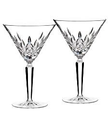 Waterford Stemware, Lismore Martini Glass Pair