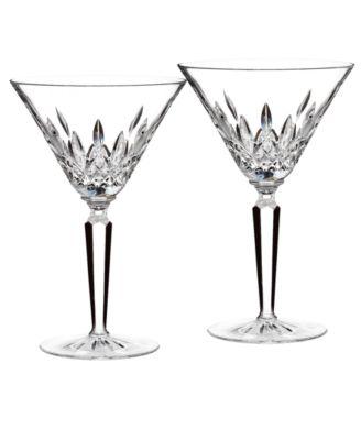 waterford stemware lismore martini glasses set of 2 - Stemless Martini Glasses