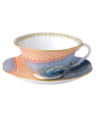 Dinnerware, Blue Peony Cup and Saucer