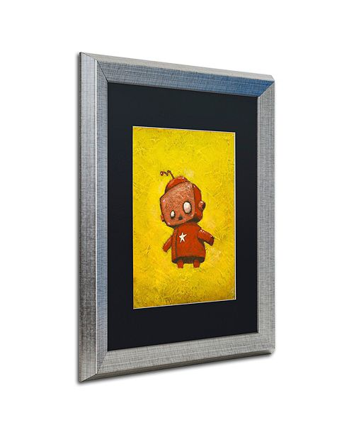 "Trademark Global Craig Snodgrass 'Red Robot Star' Matted Framed Art, 16"" x 20"""