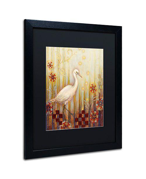 """Trademark Global Rachel Paxton 'Ocean Heron' Matted Framed Art, 16"""" x 20"""""""