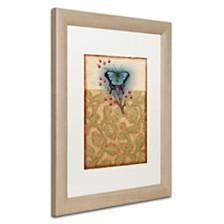 """Rachel Paxton 'Salt Meadow Butterfly' Matted Framed Art, 16"""" x 20"""""""