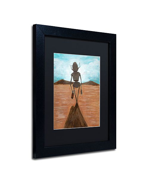 "Trademark Global Craig Snodgrass 'A Long Walk' Matted Framed Art, 11"" x 14"""