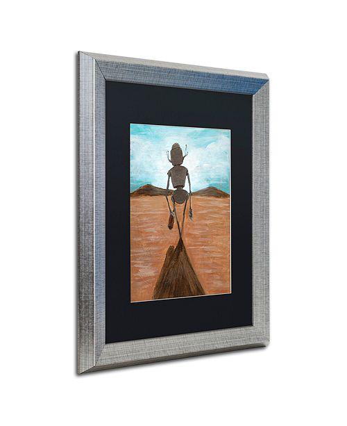 """Trademark Global Craig Snodgrass 'A Long Walk' Matted Framed Art, 16"""" x 20"""""""