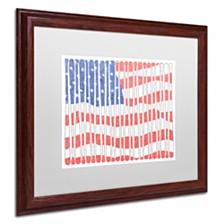 """Viz Art Ink 'America's Pastime' Matted Framed Art, 16"""" x 20"""""""