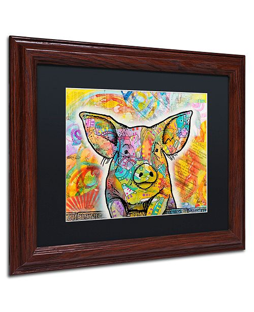 "Trademark Global Dean Russo 'The Pig' Matted Framed Art, 11"" x 14"""