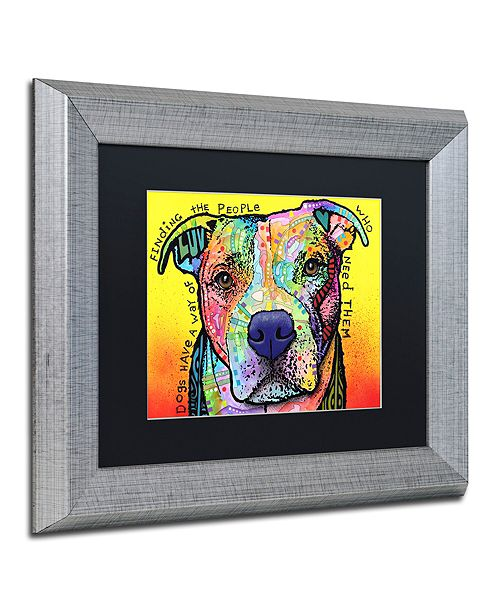 """Trademark Global Dean Russo 'Dogs Have A Way' Matted Framed Art, 11"""" x 14"""""""