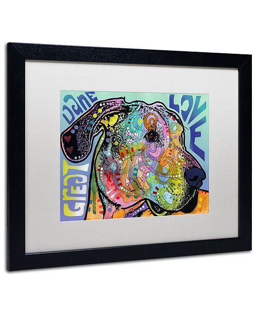 "Trademark Global Dean Russo 'Great Dane Luv' Matted Framed Art, 16"" x 20"""