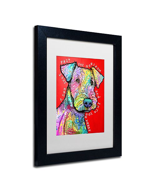 """Trademark Global Dean Russo 'Into Your Heart' Matted Framed Art, 11"""" x 14"""""""