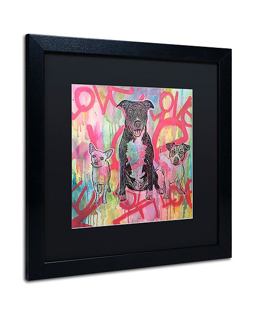 "Trademark Global Dean Russo 'Tres Amigos' Matted Framed Art, 16"" x 16"""