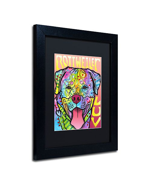 "Trademark Global Dean Russo 'Rottweiler Luv' Matted Framed Art, 11"" x 14"""