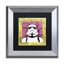 """Dean Russo 'Stormtrooper' Matted Framed Art - 11"""" x 11"""""""