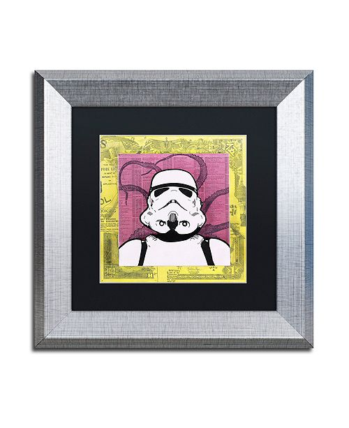 """Trademark Global Dean Russo 'Stormtrooper' Matted Framed Art - 11"""" x 11"""""""