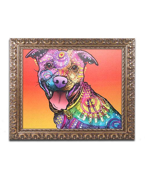 """Trademark Global Dean Russo 'All Smiles' Ornate Framed Art - 11"""" x 14"""""""