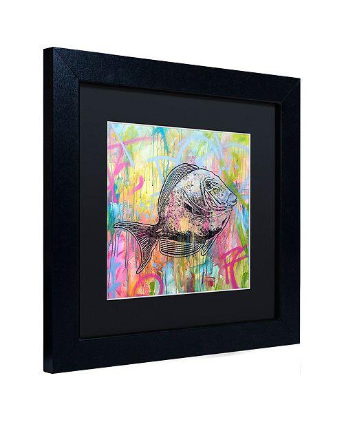"""Trademark Global Dean Russo 'Blue Tang' Matted Framed Art, 11"""" x 11"""""""