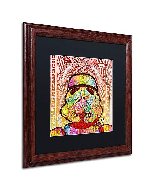 """Trademark Global Dean Russo 'Stormtrooper' Matted Framed Art, 16"""" x 16"""""""