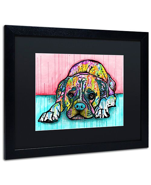 "Trademark Global Dean Russo 'Lying Boxer' Matted Framed Art, 16"" x 20"""