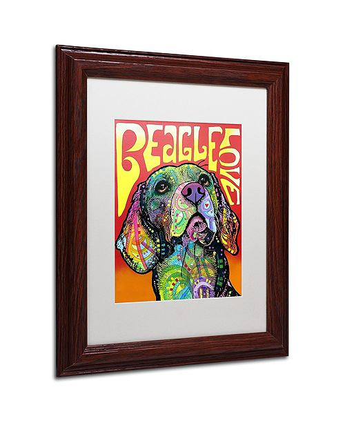 "Trademark Global Dean Russo 'Beagle Love' Matted Framed Art, 11"" x 14"""