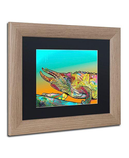 "Trademark Global Dean Russo 'Chameleon' Matted Framed Art, 11"" x 14"""