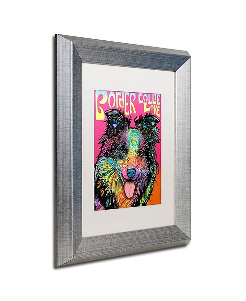 "Trademark Global Dean Russo 'Border Collie Luv' Matted Framed Art, 11"" x 14"""