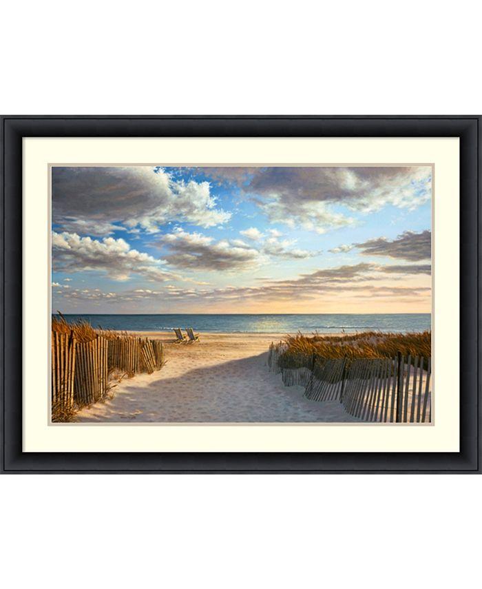 Amanti Art - Sunset Beach 43x32 Framed Art Print