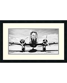 Amanti Art Passenger Airplane On Runway  Framed Art Print
