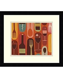 Wine And Dine Framed Art Print