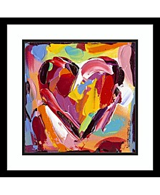 Colorful Expressions I Heart Framed Art Print