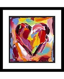 Amanti Art Colorful Expressions I Heart Framed Art Print