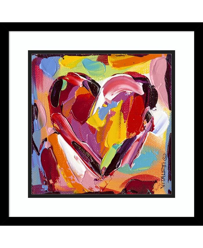 Amanti Art - Colorful Expressions I Heart 17x17 Framed Art Print