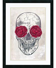 Amanti Art Skull And Roses Framed Art Print