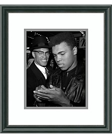 Amanti Art Muhammad Ali And Malcolm X, Nyc, March 1, 1964  Framed Art Print