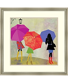 Umbrella Girls Framed Art Print