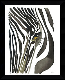 Amanti Art Zebra Eye Framed Art Print