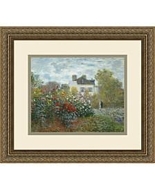 Amanti Art The Artist'S Garden At Argenteuil, 1873 Framed Art Print